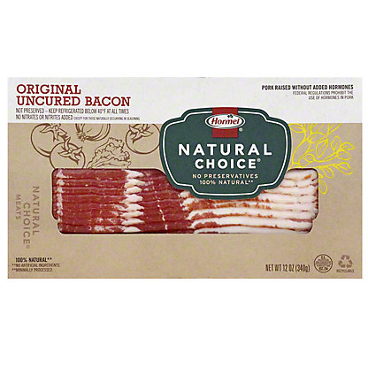 Hormel Natural Choice Uncured Original Sliced Bacon,12 OZ
